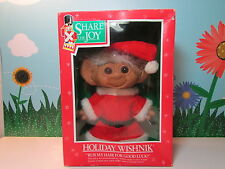 """SANTA CLAUS  - 8"""" Uneeda Troll Doll - New In Damaged Package - RARE"""