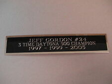 Jeff Gordon Daytona 500 Nameplate For A Die Cast Race Car Display Case 1.25 X 6
