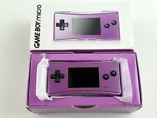 Nintendo Game Boy micro Purple Handheld System Brand New & Factory Sealed!