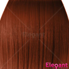 """18"""" Clip in Hair Extensions STRAIGHT Copper #350 FULL HEAD 8pcs"""