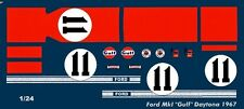 #11 ICKX/THOMPSON 1967 Ford GT40 1/25th - 1/24th Scale Waterslide Decals