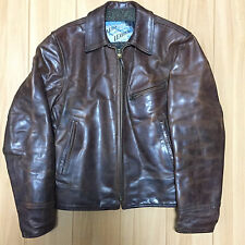 halfbelt Aero leather 36 horsehide Motercycle jacket FQHH racer brown