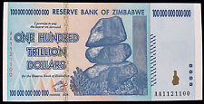 1x 100 Trillion Dollars, Zimbabwe, 1 bill, AA, 2008, P-91, UNC