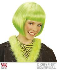 Childrens Neon Green Bob Wig Nu Rave Fairy Disco Fancy Dress
