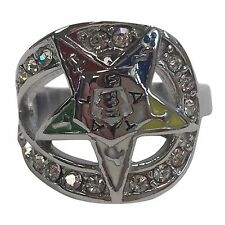 FX4694-7 Order of the Eastern Star OES Stone Ring in Silver - Size 7