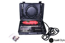 40pc Rotary Tool Kit Variable Speed Die Grinder 120v 60hz 8000-30000 RPM