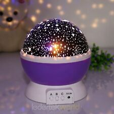Romantic Night Projector Light Cosmos Sky Space Star Moon Kid Lamp Rotating