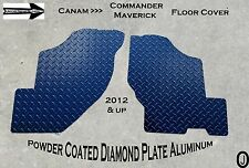 CANAM Commander+Maverick Powder Coated Diamond Plate Floor Covers 2012 And up