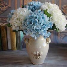 Artificial Hydrangea Fake Peony Silk Plant Flower Home Wedding Bouquet Blue