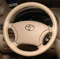 SAND CREAMY BEIGE Custom Fit Leather Steering Wheel Cover - Wheelskins Size C