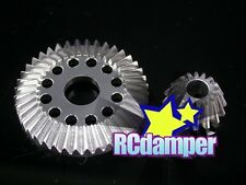 ALUMINUM DIFFERENTIAL RING GEAR SILVER TEAM ASSOCIATED NTC3 TC3 TC4 ALLOY DIFF