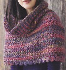 Crochet Pattern ~ Ladies BIG TEXTURE CAPE Shawl Poncho ~ Instructions
