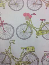 Curtain Fabric  Bed Cushion sheet Bikes  Pattern Children Kids 100% Cotton