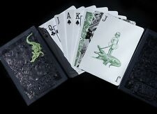 Metallic Green Gatorbacks Playing Cards Deck By David Blaine
