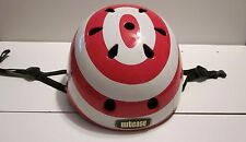 NUTCASE RED & WHITE STRIPES CYCLING SKATING MEDIUM/ LARGE HELMET!