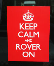 LAND ROVER Series Defender Range Discovery KEEP CALM and ROVER ON Sticker