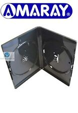 1 Double Standard Black DVD Case 14 mm Spine New Empty Cover Face on Face Amaray
