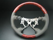 Toyota Land cruiser FJ100 FJ120 PRADO Burl wood leather steering wheel-SPORTS