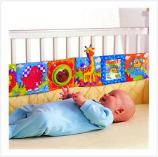 Colorful Infant Bed Decoration Baby Crib Cloth Book Knowledge Educational Toy