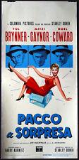 CINEMA-locandina PACCO A SORPRESA brynner,gaynor,coward S.DONEN