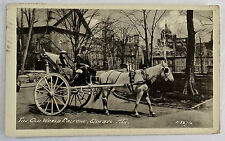 Antique Real Photo Postcard-Old Time Caleche-Quebec,  Canada-1935