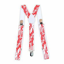 Halloween Fake Bloodstains Suspenders for Men and Women Fancy Dress