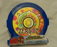 Zerboz Toy Collector Case Blue Hold 18 Figurines & 18 Balls
