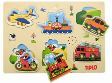 NEW Transport Sound Puzzle wooden children's puzzle with sounds TIDLO John Crane