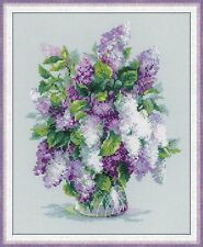 RIOLIS  1447  COUNTED CROSS STITCH KIT - DELICATE LILAC- 24*30 cm  GENTLE LILAC