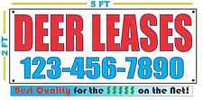 DEER LEASES w/ CUSTOM PHONE Banner Sign NEW Larger Size High Quality!