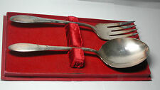 NOS Antique Vintage Oneida COMMUNITY  Large Silverplate Serving Spoon & Fork Set