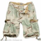 SURPLUS VINTAGE CARGO SHORTS MENS ARMY STYLE COMBAT WASHED COTTON DESERT CAMO