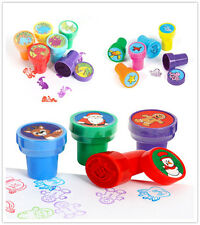 16x Dinosaur Sea Animals Christmas Pre Ink Stamps Stamper Kids Party Toy Gift