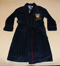 Brisbane Lions AFL Boys Navy Blue Embroidered Fleece Dressing Gown Size 16 New