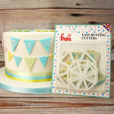 FMM EASY BUNTING CUTTERS Icing Sugarcraft Cake Cupcake Decorating Set of 3