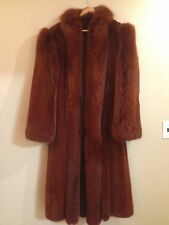 Mink and fox fur coat