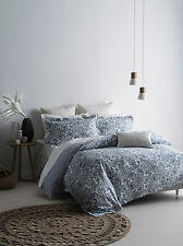 Sarina King Bed Quilt Cover Set + Long Cushion + 2 x European Pc's - Onkaparinga