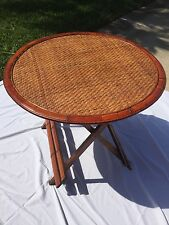 Bamboo Rattan folding table with 6 matching chairs