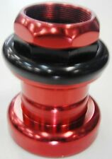 "BulletProof Scooter/MTB/BMX Headset BEARING 1-1/8"" Threaded RED"