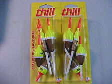 10 NEW THILL FISHING SLIP BOBBERS BALSA WOOD FLOATS 2 - 5 in a pack x 2
