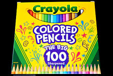 Crayola THE BIG 100 Sharpened Colored Pencils School Supplies Art Drawing Color