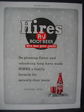 1943 Hires Root Beer rare Full Page Vintage Print Ad 12014