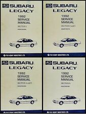 1992 Subaru Legacy Shop Manual 4 Vol Set Repair Service base books for 1993-1994
