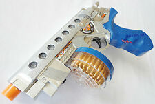 Toy Guns Electronic Toy Drum-Fed 9MM Machine Pistol w/ Flashing Light & Sound FX