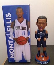 Monta Ellis Dallas Mavericks SGA NIB 2015 Bobblehead, Warriors, Pacers, NBA