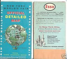 1964-1965 New York World's Fair Official Detailed Map by Esso Words Fair