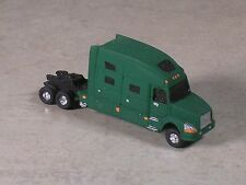 N Scale 2010 Green Volve Semi-Truck, Semi-Tractor with extra long sleeper.