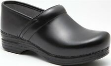 Dansko Professional Black Box Leather Clogs, Women's Size 42 (11.5-12) $140