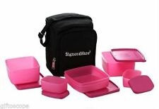 SIGNORAWARE TRENDY LUNCH  WITH BAG (547)(PINK) - BEST LUNCH FOR EXECUTIVE PEOPLE