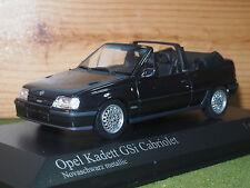 Minichamps 400 045931 Opel Kadett GSI Cabriolet 1989 in Black 1/43rd Scale